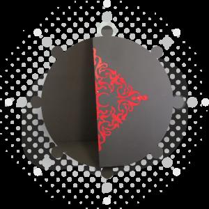 Incrustation acrylique / vernis mat